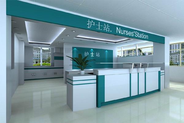 医院吧台效果图